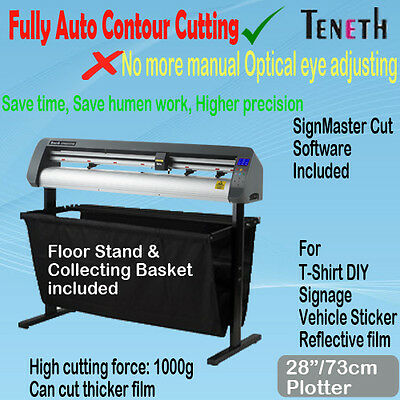 "28"" 73Cm Arms Fully Auto Contour Vinyl Cutter Plotter Sign Sticker Cutting"