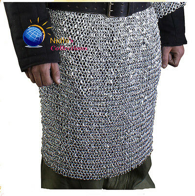 Medieval Armour Chainmail Shirt Skirt Costumes 10 Mm-Round Riveted Aluminium