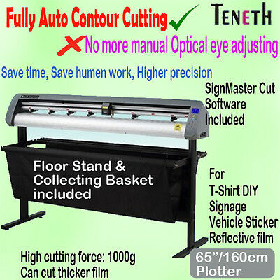 "65"" 160Cm Arms Fully Auto Contour Vinyl Cutter Plotter Sign Sticker Cutting"