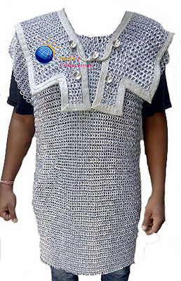 Medieval Armour Chainmail Shirt Hamata Costumes 10 Mm-R Riv Aluminium Large Sca