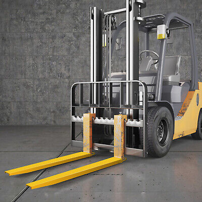 "72x5.5"" Forklift Pallet Fork Extensions Pair 183cm/140cm High Tensile Strength"