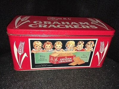 Nabisco Tin RARE Vintage National Biscuit Company Graham Crackers REPLICA 1994