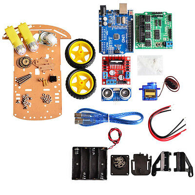Avoid Tracking Motor Smart Robot Car Chassis Kit 2 WD Ultrasonic For New