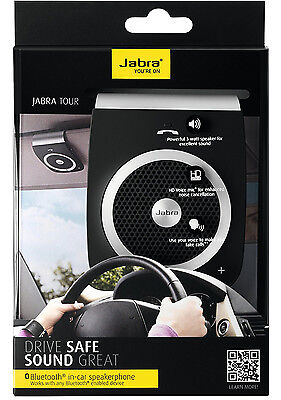 Jabra TOUR Car Speakerphone Bluetooth Wireless Handsfree Speakers In Car Kit