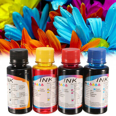 1-4PCS 100ML Couleur Ink Jet Encre Rechange pour Universel Imprimante Printer