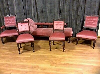 IPSWICH - Antique chaise 5 piece lounge suite - Family Heirloom reluctant sale
