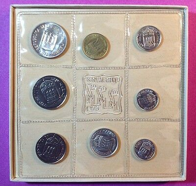 1973 Republic of San Marino 9-Pc. BU-UNC Coin Set
