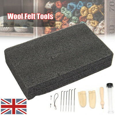 14x Needle Felting Starter Kit Wool Felt Tools Mat + Needles + Accessories Craft