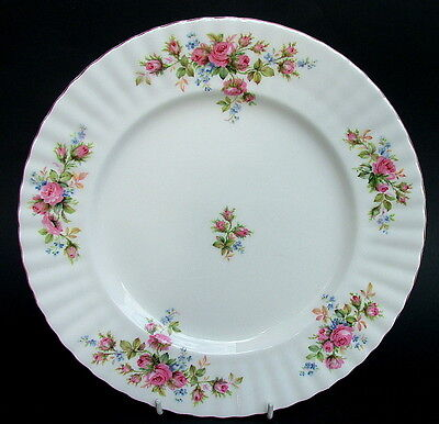 Royal Albert Moss Rose 1st Quality Lg Size Dinner Plates 26.5cm - Look in VGC