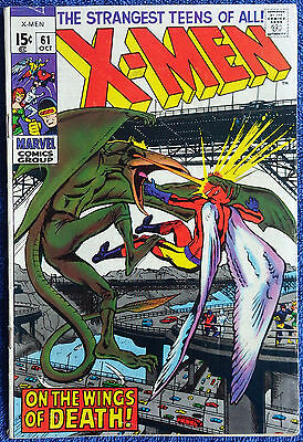 X-Men #61 On the Wings of Death! 2nd appearance Sauron Roy Thomas Neal Adams