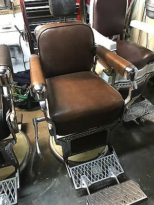 Antique Koken Barber Chair's for barber shop 1950's