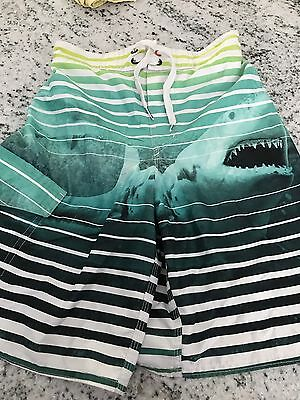 Joe Boxer Boys Swim Trunks Shark Swimwear Size M 10-12