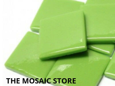 Green Gloss Glass Tiles 2.5cm - Mosaic Tiles Supplies Art Craft