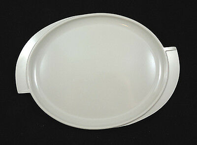 Serving Platter Boonton Melmac Melamine Gray Oval Two Handle Retro Tableware 14""