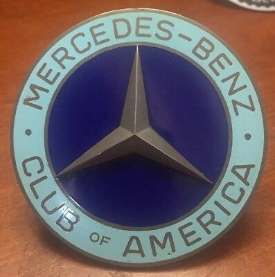 Vintage Mercedes-Benz Club Of America Grill Badge