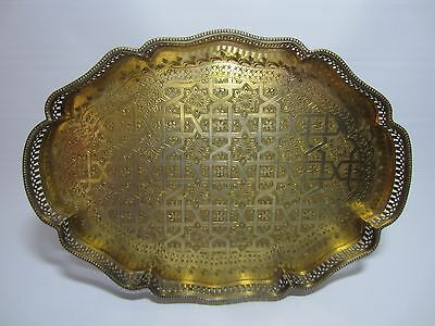 Signed Hallmarked Regency Persian Arabic Silver Drinks Yacht Tray 1100 Grams
