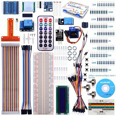 For Raspberry Pi 3 Kuman Starter projects Kit with a lcd screen remote GPIO