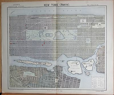 1883  Large Antique Town Plan New York (North)