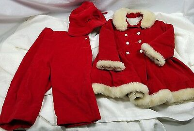 Vintage Sears Girls Winter Jacket Pants Bonnet Antique Roebuck Wow!