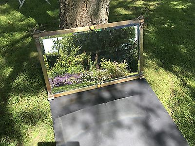 Antique Regency Style Mirror Late 19thC Decorative Brass Frame probably French