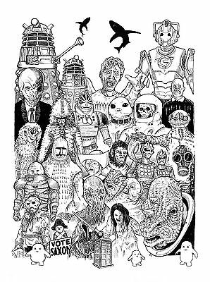 Doctor Who poster signed by the artist