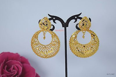 Indian Bollywood Gold Plated Dangle Earrings Traditional Trend Jewelry Design