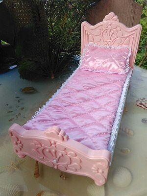 Plastic furniture for doll Doll 1:6 bed for Barbie bedroom for Barbie doll house