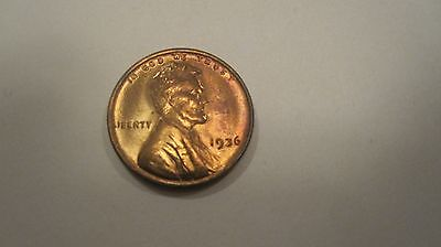 1936 Lincoln Wheat Cent!  Red! Choice Unc! Very Nice Coin!