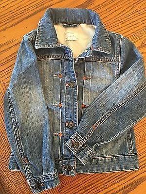J. Crew Crewcuts Denim Jean Jacket Anchor Buttons! Super Cute!