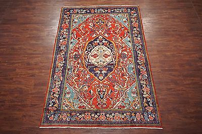7X12 Persian Antique Sarouq Mahal Hand-Knotted Wool Area Rug Oriental Carpet