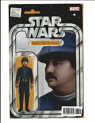 STAR WARS # 33 (Bespin Security Guard ACTION FIGURE VARIANT CVR SEP 2017) NM NEW