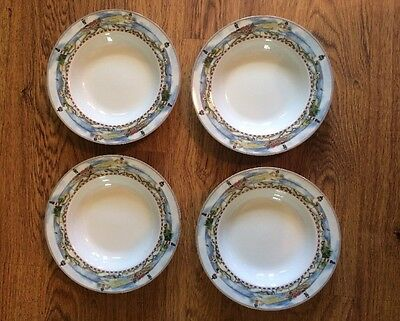 """4 American Atelier Signals 5100 Lighthouse Bowls  8 1/2"""" Wide EUC"""