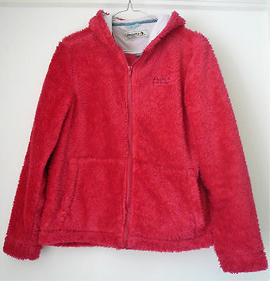 Bright pink hooded girl's zipped fleece from Regatta, age 13-14