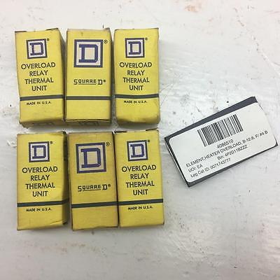 square D overload relay thermal unit 1-B12.8 lot of 6