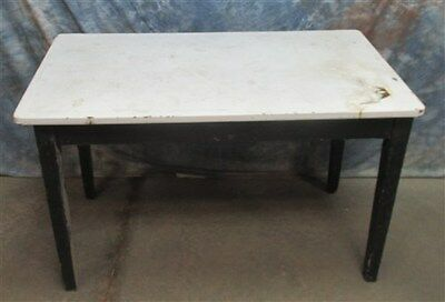 "4' x 27"" Porcelain Top Table Desk Kitchen Island Store Counter Vintage"