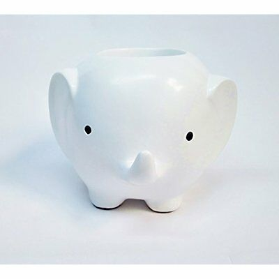 Cute Elephant Pencil Holder Pot Creative Design Pen Storage Organizer Desk White