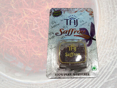 1 gm TAJ Brand Pure Finest Saffron Golden Stigma Kashmiri Kesar High Quality