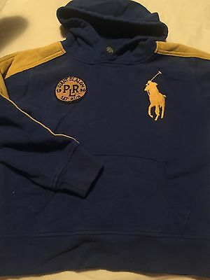 Ralph Lauren Polo Boys Hoodie Size Medium 10-12 Sweatshirt Blue