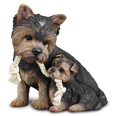 Puppy Love Yorkie Yorkshire Terrier Sculpture- Cute- Dog- Danbury Mint