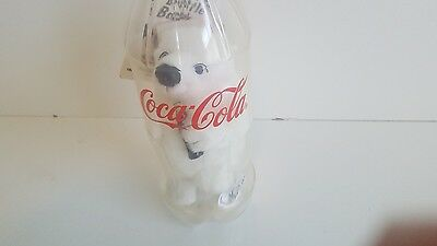 Coca Cola Bottle Bank with Bear Inside