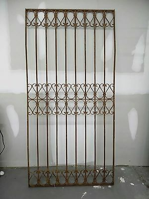 Antique Victorian Iron Gate Window Garden Fence Architectural Salvage Door #2