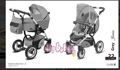 pram and pushchairs travel system car seat isofix baby boy girl 3 in 1 grey