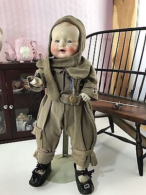 Petite American Doll Co Happy Tot Little Lindy! 1929 Lindbergh Composition Doll