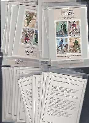 Great Britain #874a London 1980 Rowland Hill 2nd Miniature Sheets (35) MNH