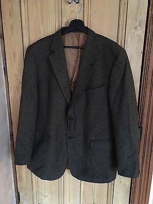 Vintage Douglas Wool Blend Professor Geography Teacher Jacket Blazer Size XL