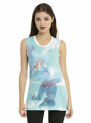 Disney The Little Mermaid Ariel Sublimation Silhouette Girls Muscle Top