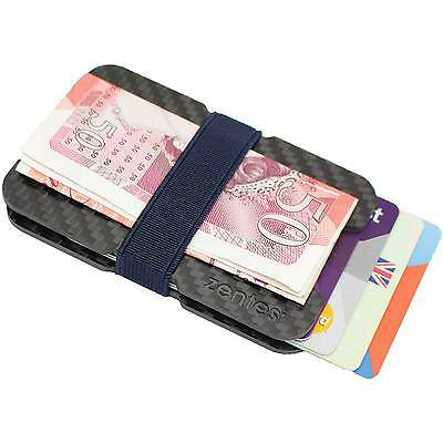 Carbon Fibre Wallet Money Clip Ultra Slim ID Credit Card Holder RFID Protection