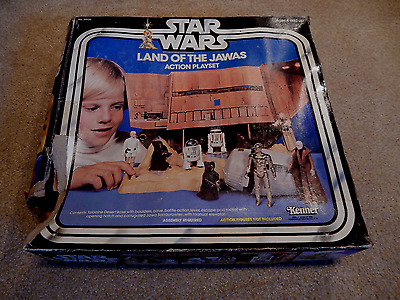 Vintage Star Wars Land Of The Jawas Action Playset-Kenner 1979-Complete With Box
