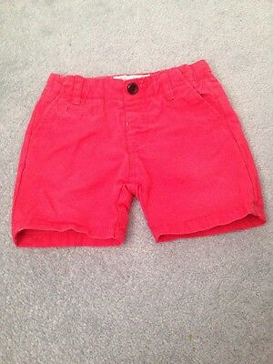 Baby Boys Zara Red Shorts , Age 6-9 Months