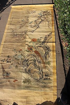 Chinese or Japanese Scroll Item #41 (birds with flowers)